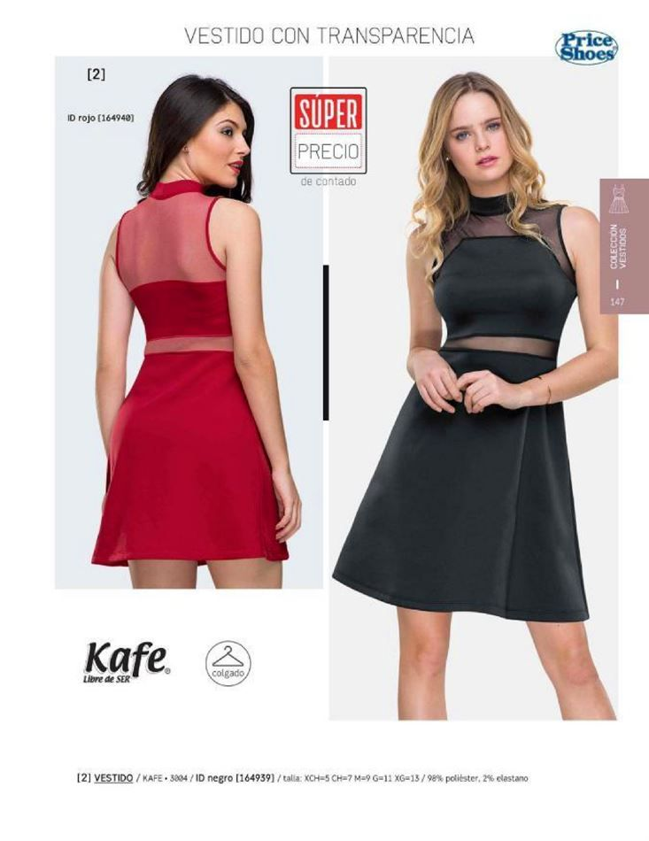 76058d12 Vestidos negros de la marca Kafe. Vestido de moda para mujer en noche de  fiesta. catalogo Price Shoes.