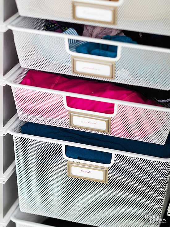 Wire Drawers In Freestanding Frames Bring Dresserlike Utility To Closets.  The Streamlined Units Allow Air To Circulate, Which Keeps Your Clothing  Smelling ...