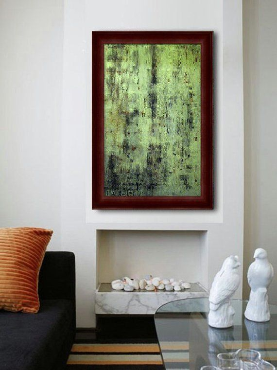 Original Resin Art | Oversize Canvas Painting | Contemporary ...
