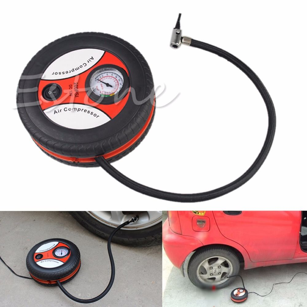 1Pc Floor Pump Portable Bicycle Tire Floor Pump Foot Pump for Vehicle Car Travel