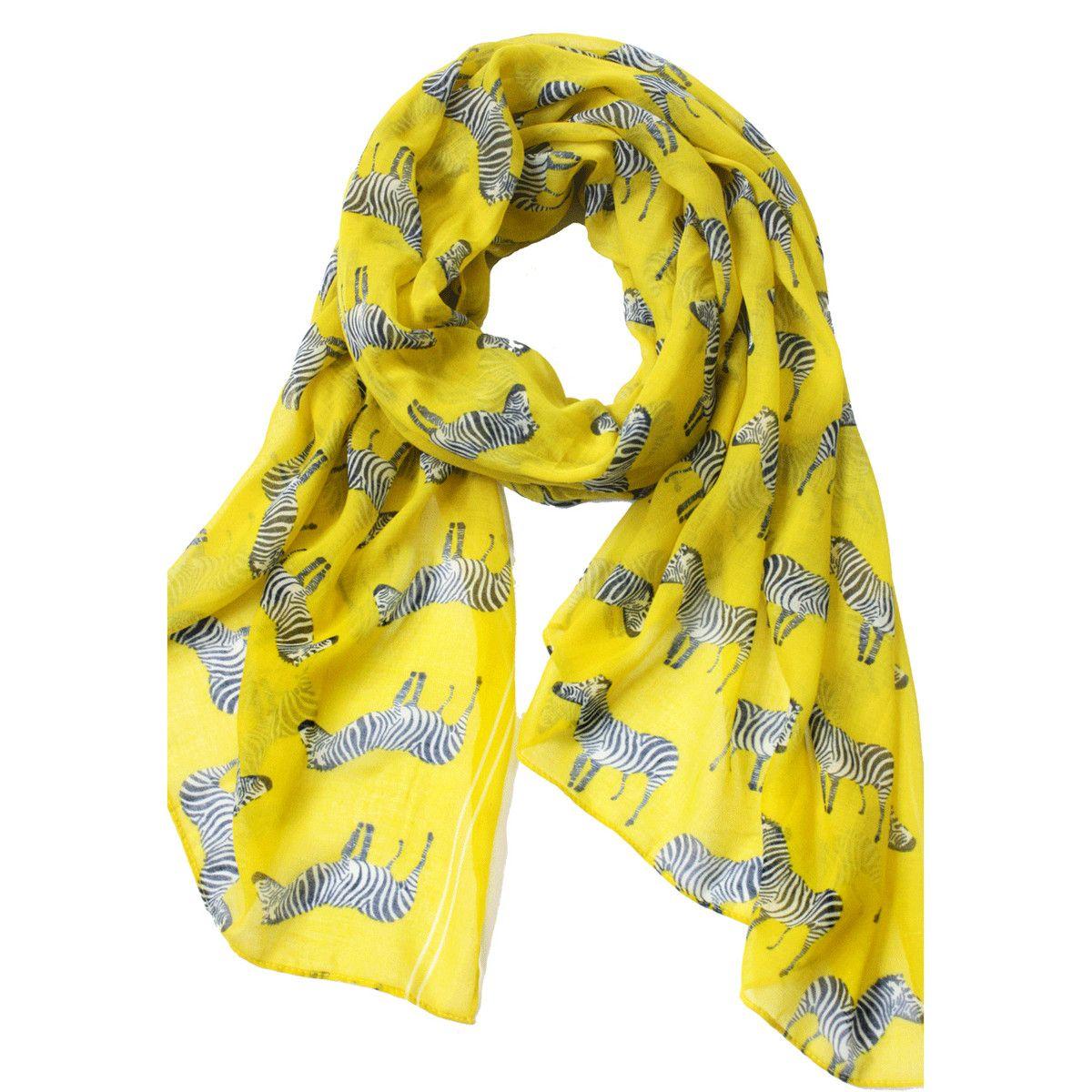 Zebra Crossing Yellow by Happy Scarf