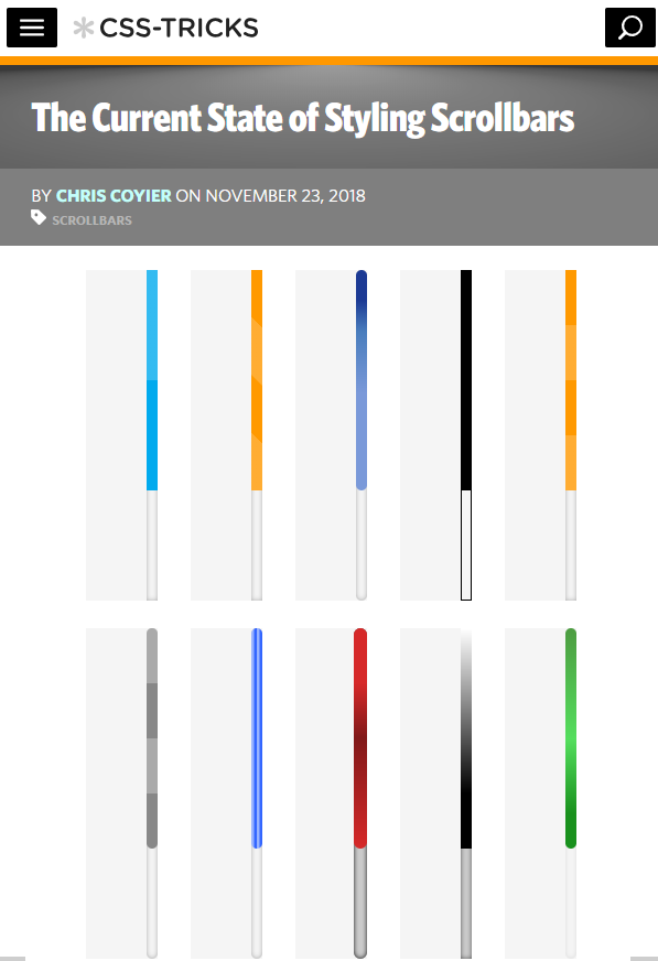 The Current State Of Styling Scrollbars Style Css Current