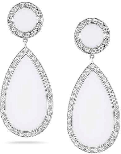 Dana Rebecca Sara Elizabeth Diamond White Agate Earrings Available At Since1910 Jewelry