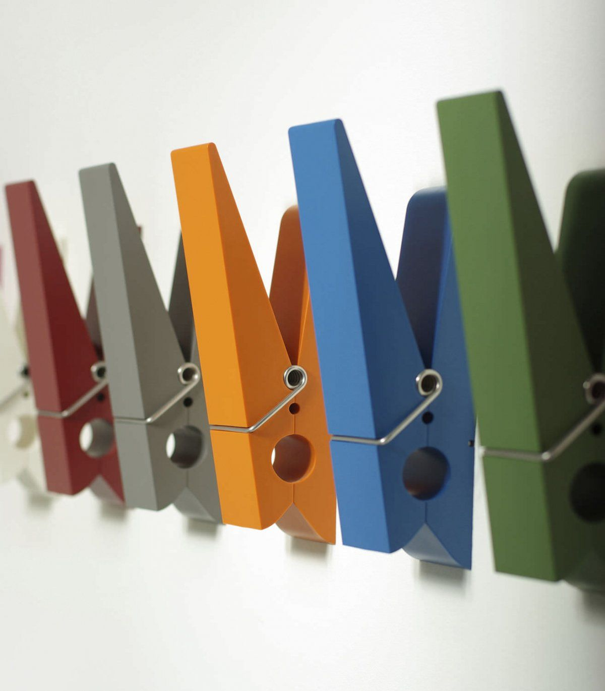 Creative Colorful Clothespin Wall Mounted Coat Rack Design Ideas, 36  Decoration U0026 Interior Designs In Unique Modern Coat Rack Designs Gallery