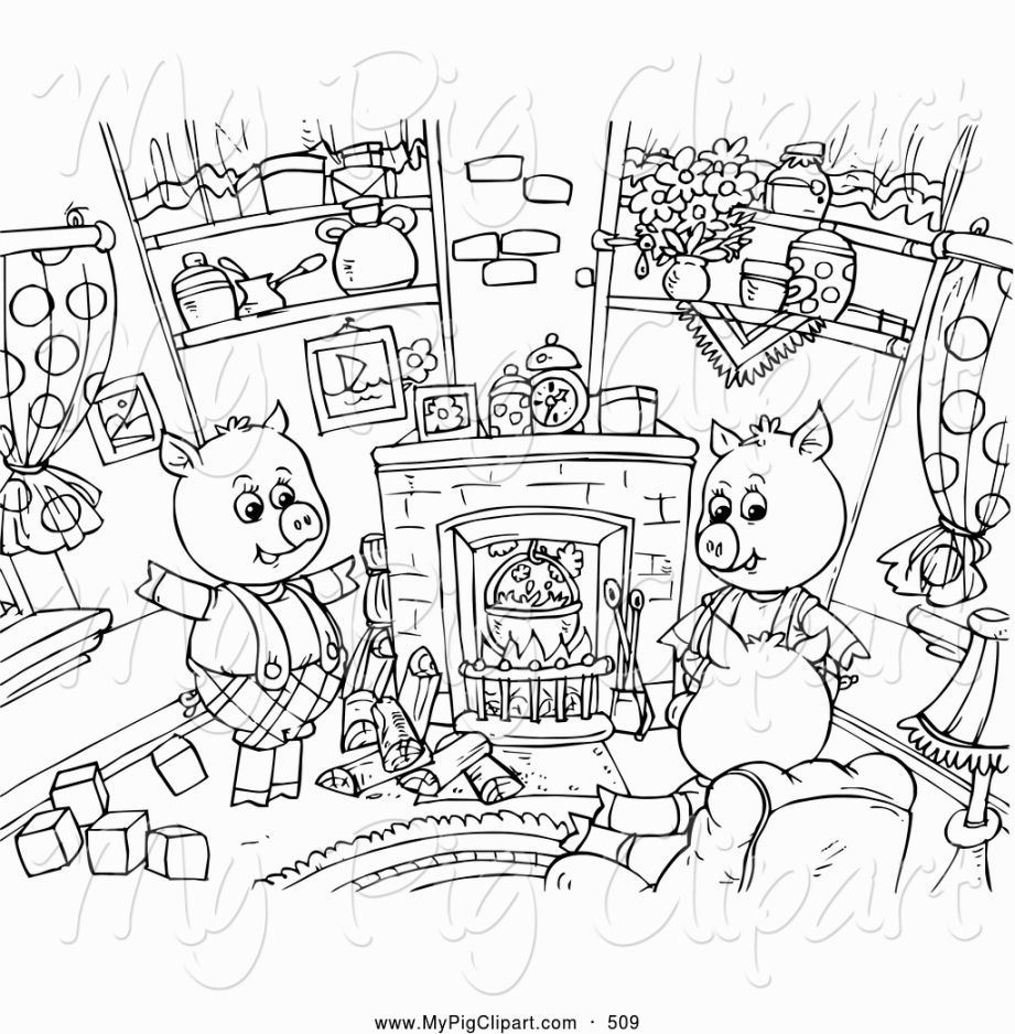 The Three Little Pigs Coloring Pages Little Pigs Peppa Pig Coloring Pages Three Little Pigs Story