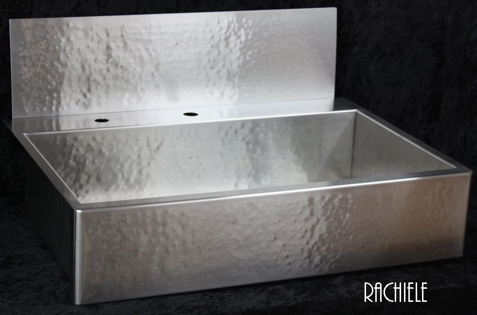 RACHIELE Custom Hammered Stainless Apron front Sinks made in the USA ...