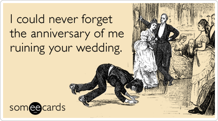 new anniversary card for terrible wedding guests corinneshepard