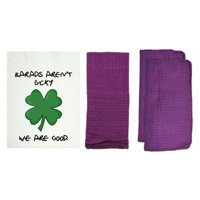 R&R Textile Mills Inc 8 Piece Personalized We Are Good Dishcloth Set Color: Violet