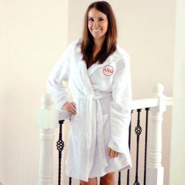 Greek Plush Hooded Spa Robe #greekgifts #greekrobe #personalizedrobe #sororityrobe #sororitygifts #sorority