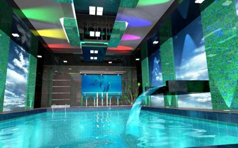 interesting cool swimming pools with slides excellent garden - Cool Indoor Pools With Slides