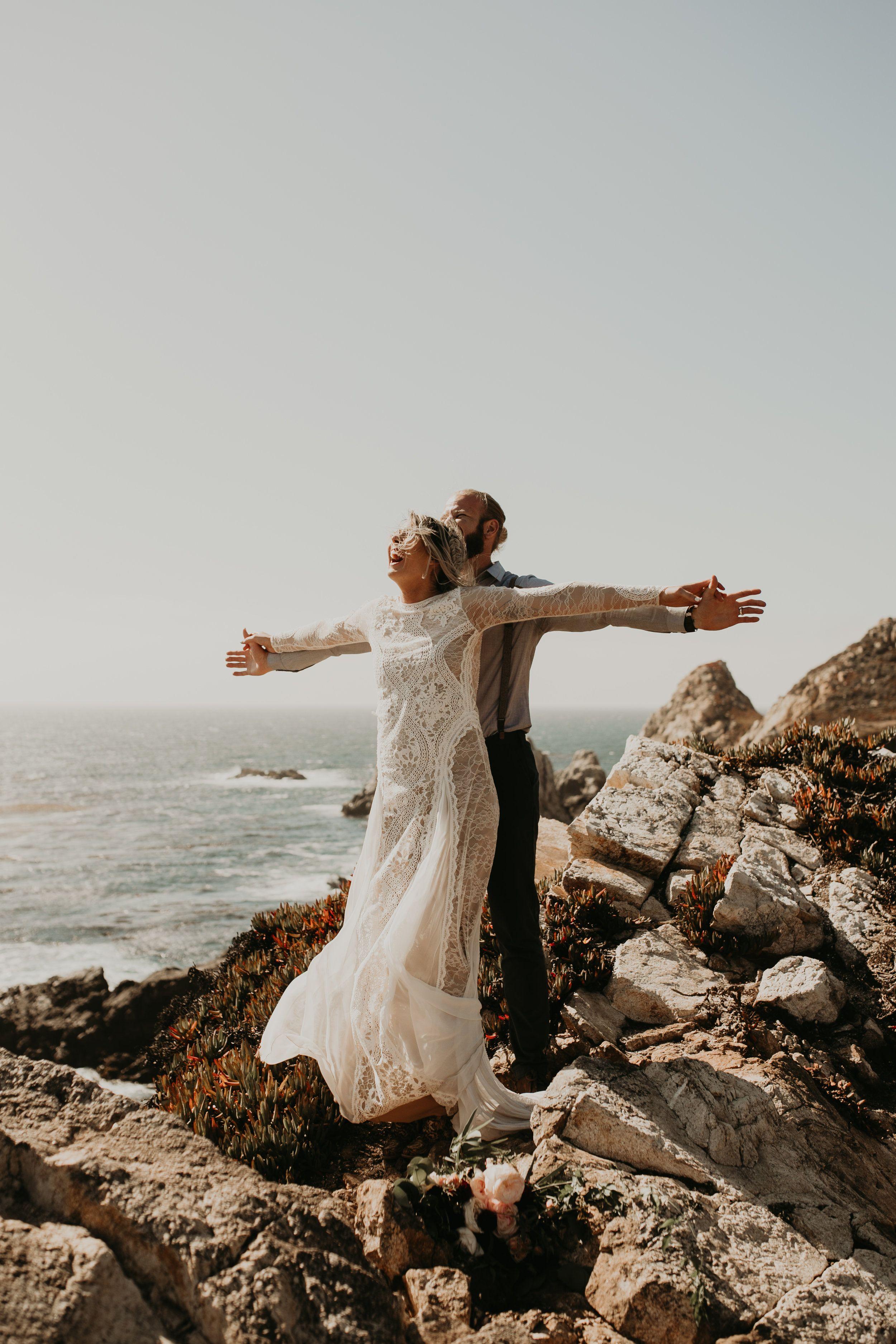 81045db5ae Joanna + Brian West Coast Intimate Adventure Wedding in Big Sur, CA by  Seattle Wedding