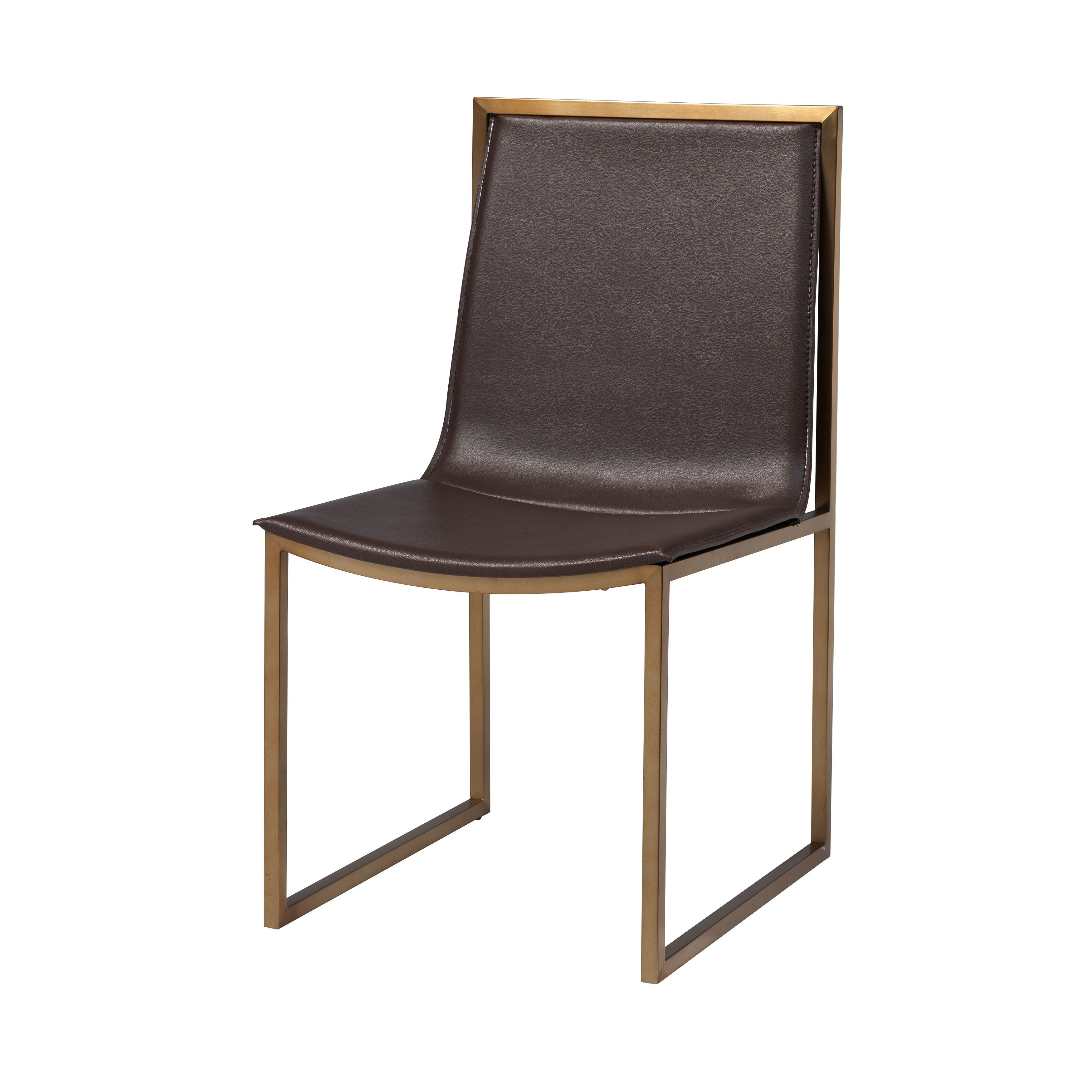Set Of 2 Midas Dining Chairs Brown Christopher Knight Home