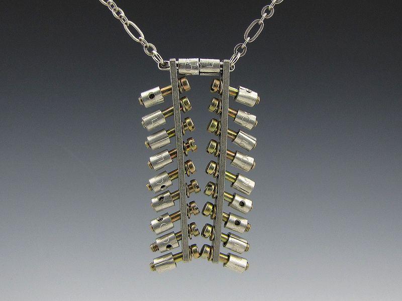 Industrial Debris necklace 1760