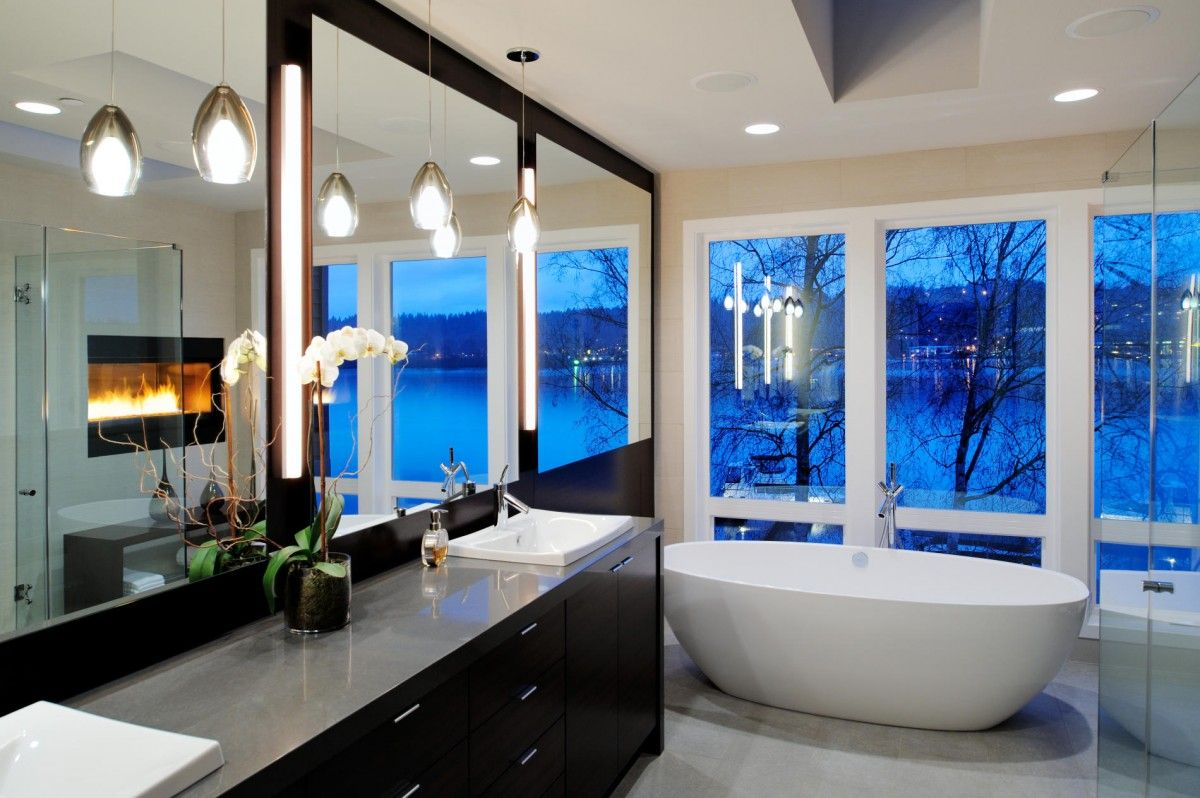Seattle Contemporary Master Bath by George Daniel Wittman Architects