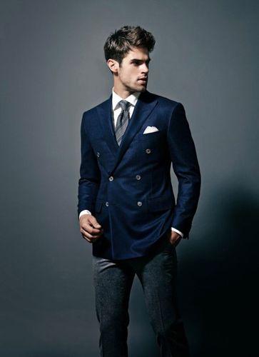 chaqueta blazer azul pantalon gris 03 | Pantalón gris