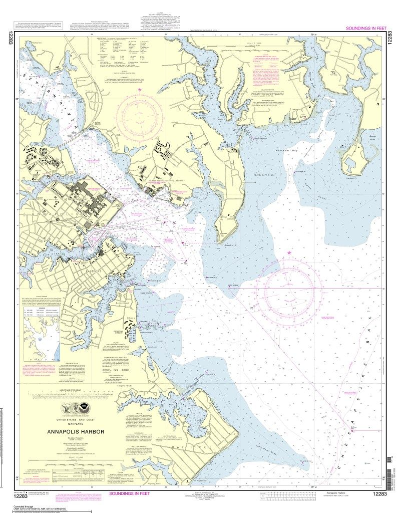 Noaa Nautical Charts Now Available As Free Pdfs Nautical Chart Annapolis Harbor Poster Prints