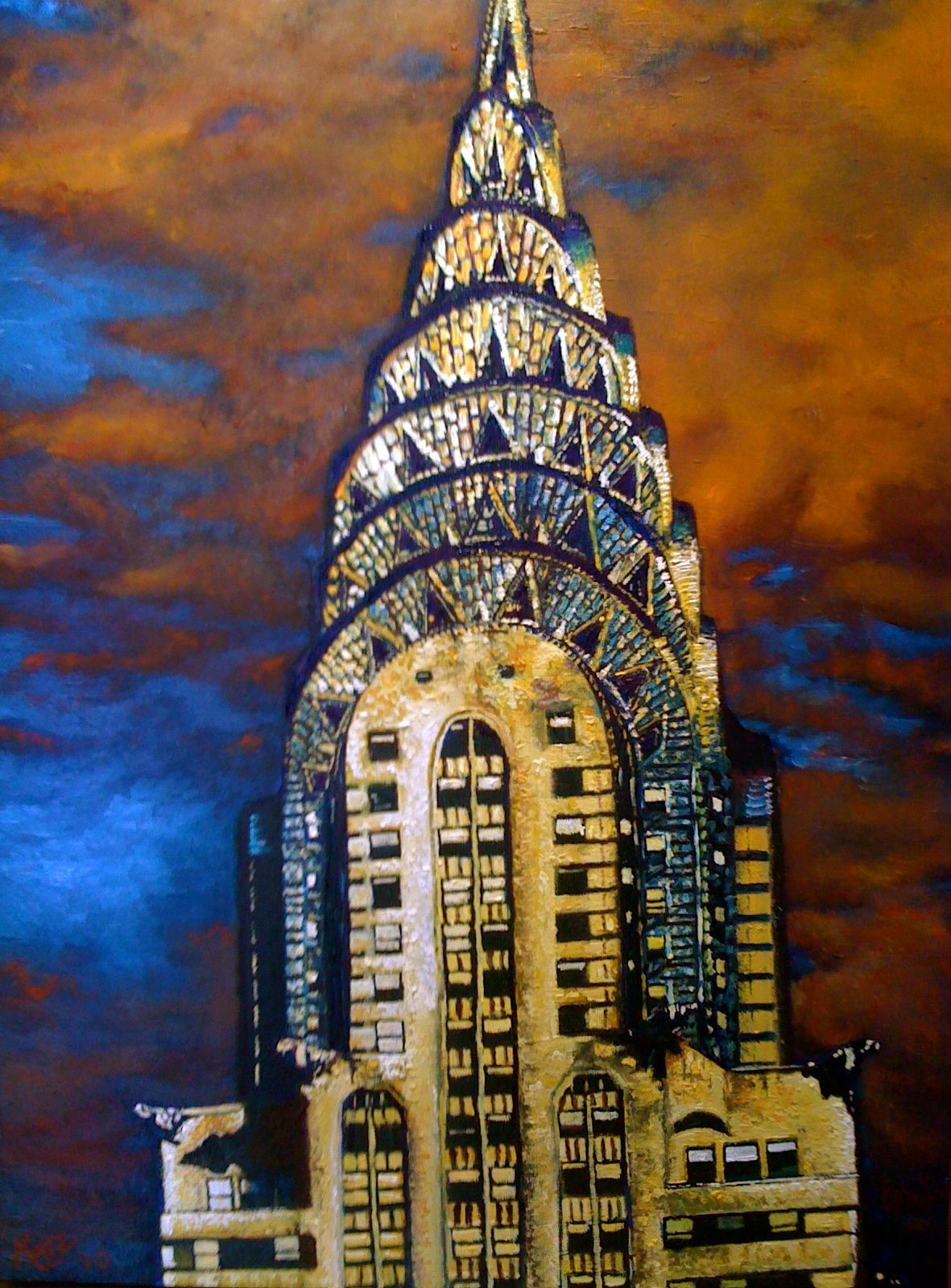 Chrysler Building Painting With Images Building Painting