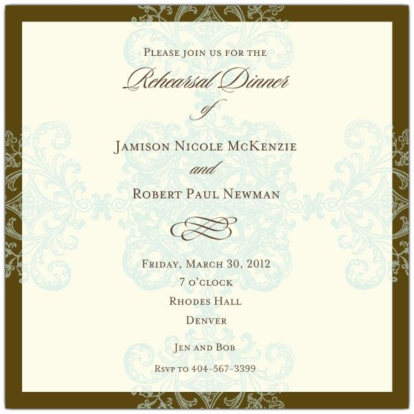 formal dinner invitation wording formal pattern blue square