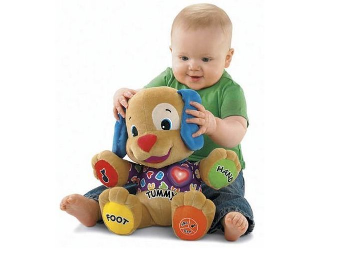 New Baby Toys Fisher Dog Baby Musical Plush Electronictoys