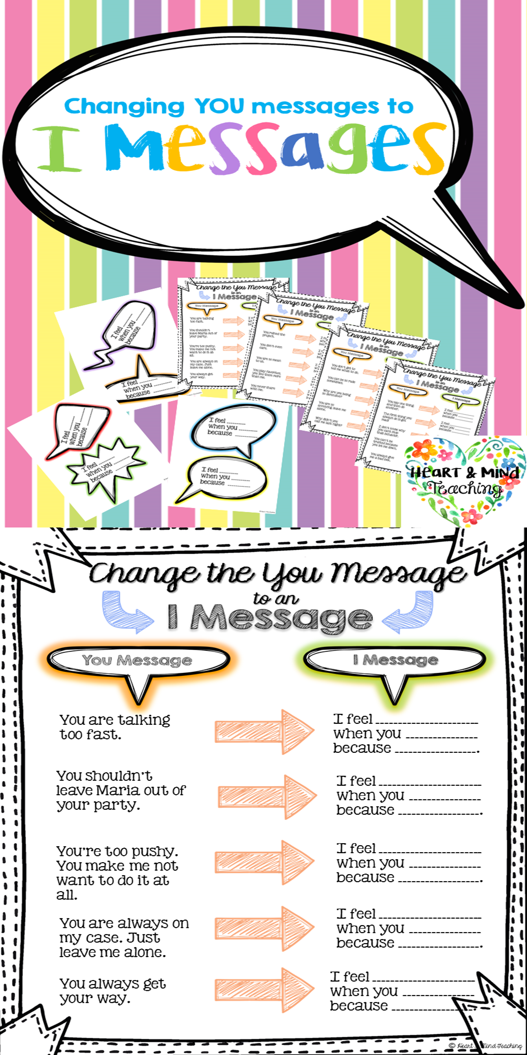 I Statement Worksheet For Teens