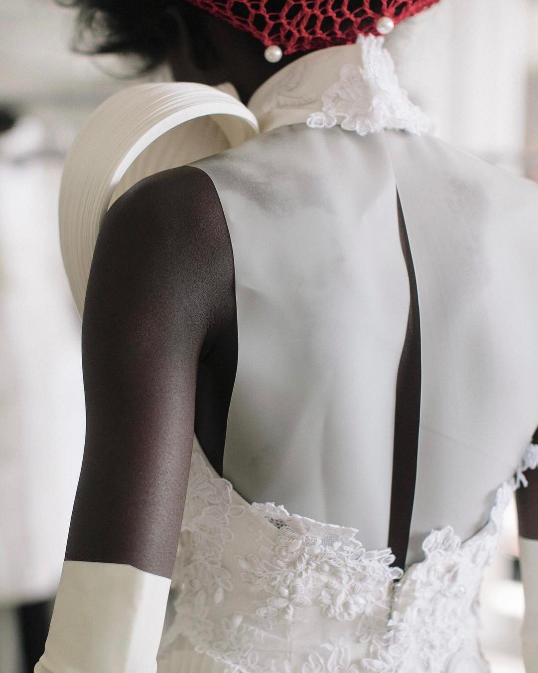 Latex wedding dress  Thom Browne thombrowneny  Details Style    Pinterest