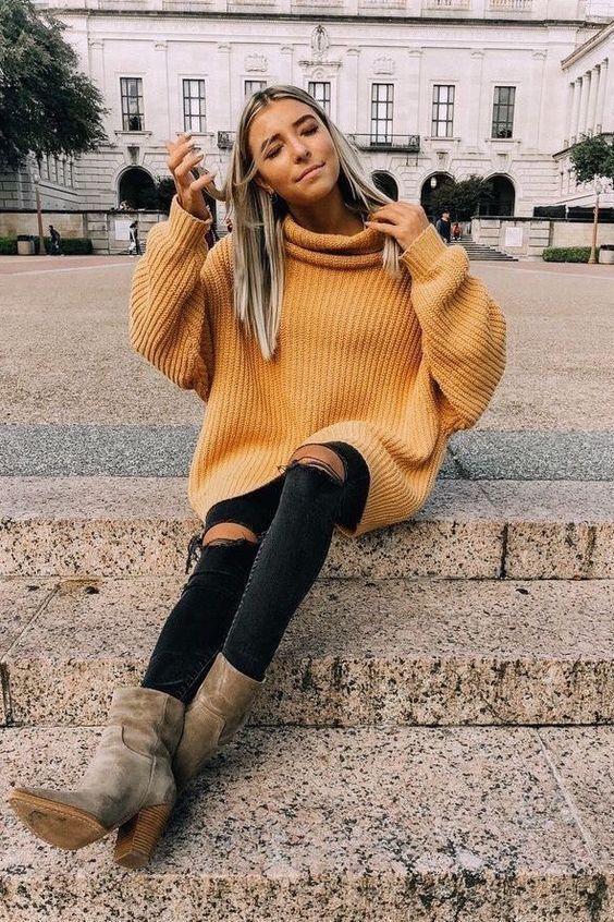 Photo of Tauchen Sie mit diesen Outfits in die herbstliche, bequeme Sweater-Stimmung ein! F …
