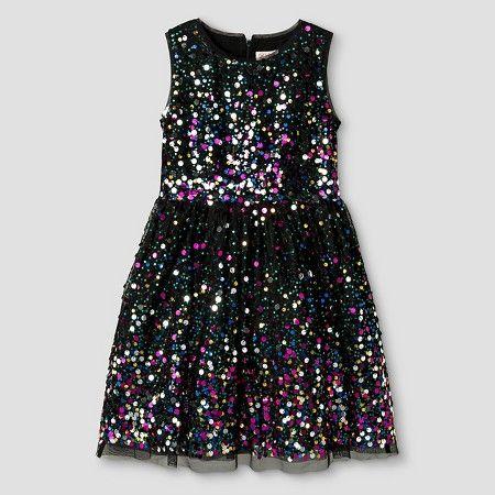 Girls' Sequin Dress Cat & Jack™ - Multi-Color XXL : Target | All ...
