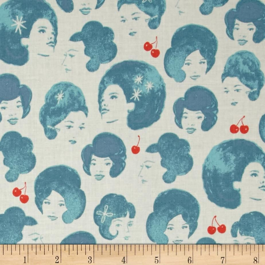 Kaufman bouffants amp broken hearts girls red fabric by the yard - Cotton Steel Fruit Dots Dotties Blue From Fabricdotcom Designed By Melody Miller For Cotton