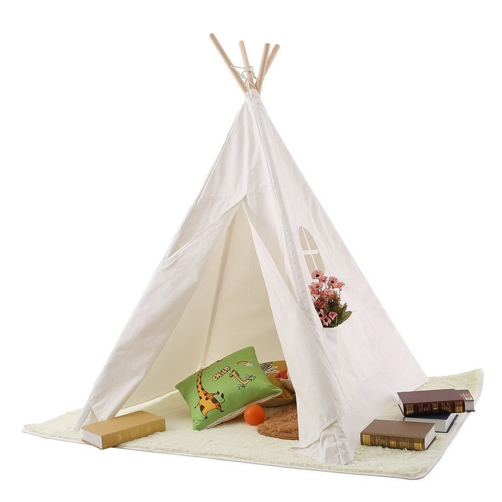 Shop Pericross® Children Teepee Kids Play Tent Indian Tent for Kid Indoor Play Ground Play House Tents Kid Outdoor Garden Tent Green-White Strip.  sc 1 st  Pinterest & Pericross® Children Teepee Kids Play Tent 145cm Indian Tent for ...