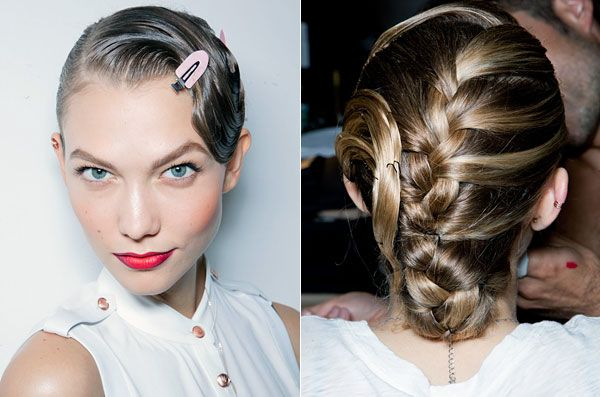 African braids (similar to a French but worn tighter)    Read more: Spring 2013 Fashion Beauty - Best Hair and Makeup at New York Fashion Week - Harper's BAZAAR