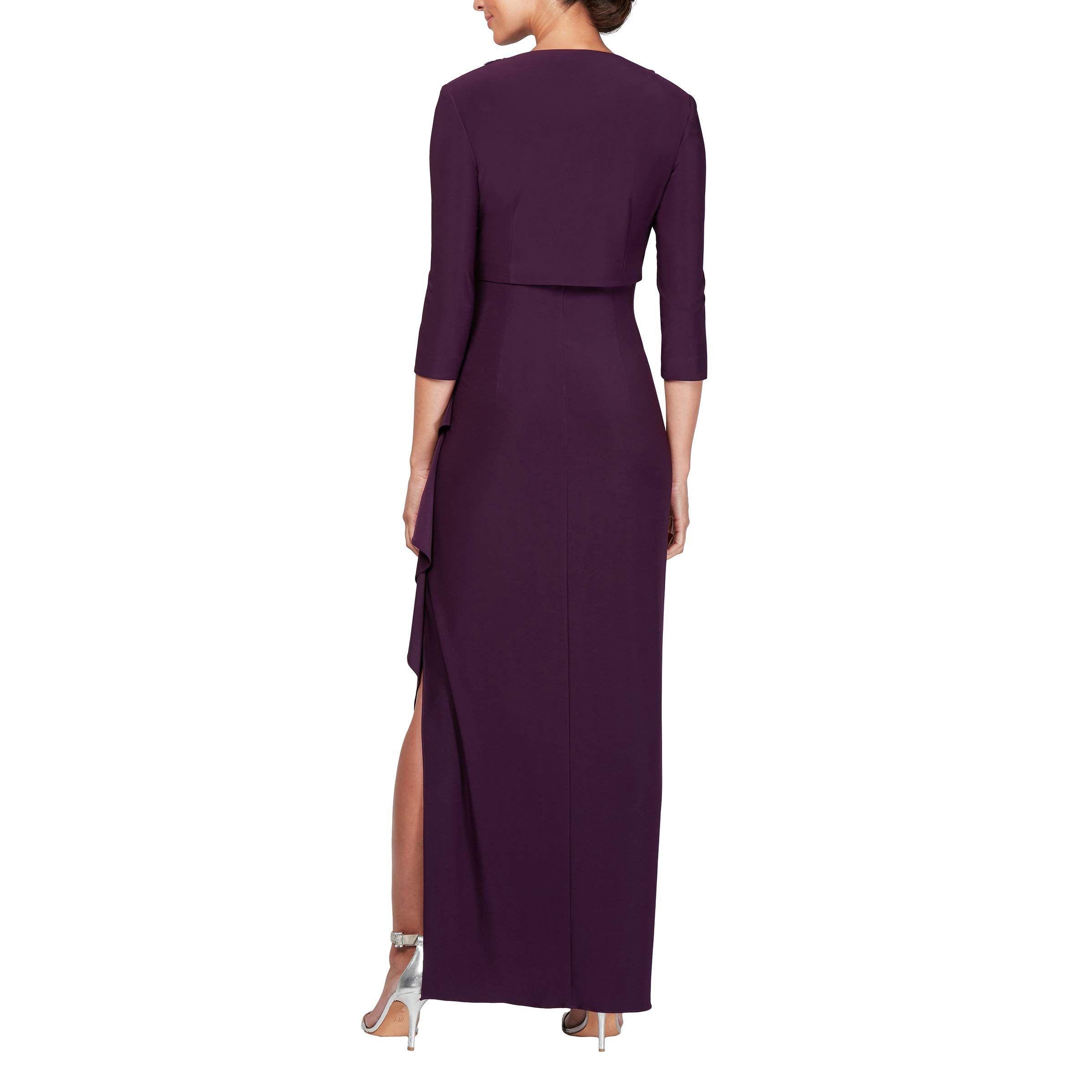 Petite and Regular Sizes Alex Evenings Womens Empire Waist Bolero Jacket Dress