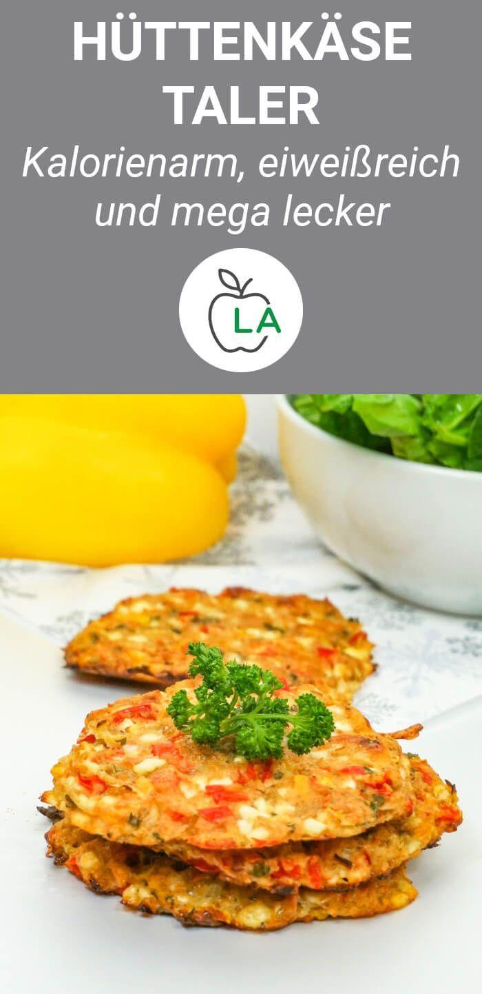 Bunte Hüttenkäse-Taler - gesundes und leckeres Rezept zum Abnehmen #creamcheeserecipes