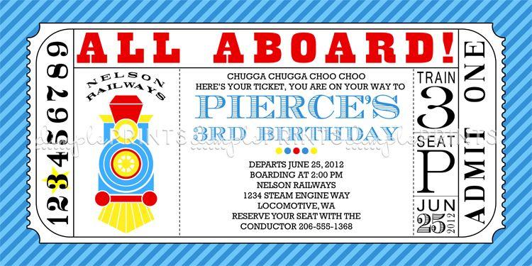 train ticket printable birthday