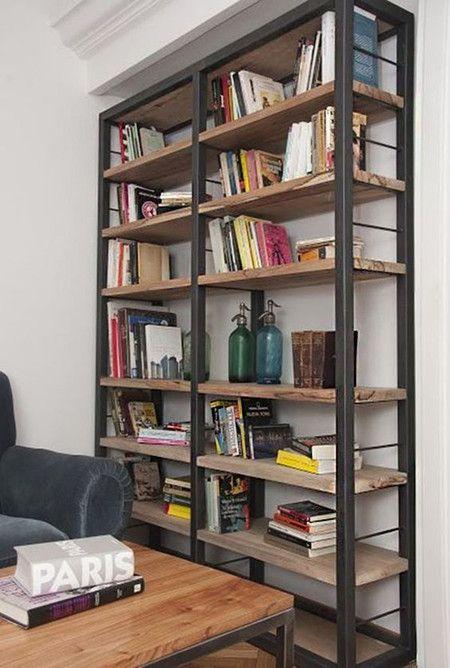 17 ideas de cmo poner estantes de metal en casa Industrial