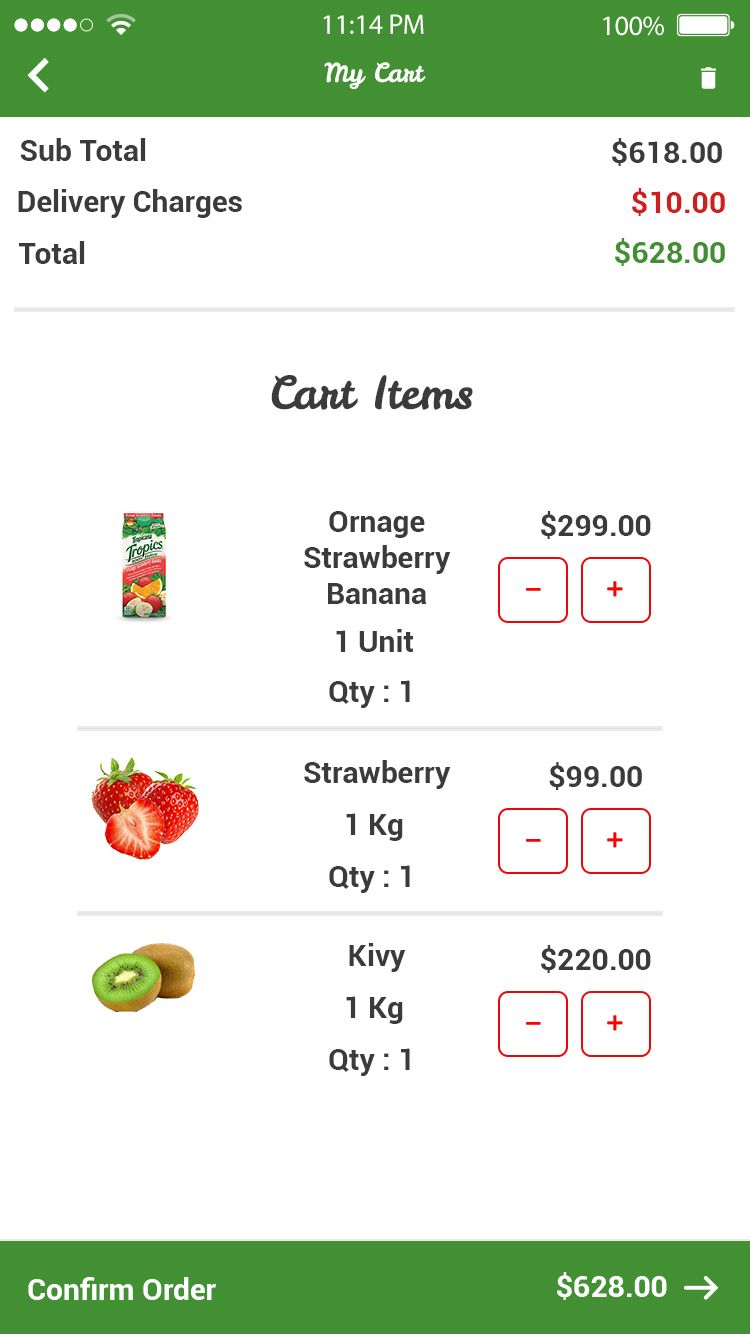 Online Grocey Store App Grocery Android & iOS App with Php