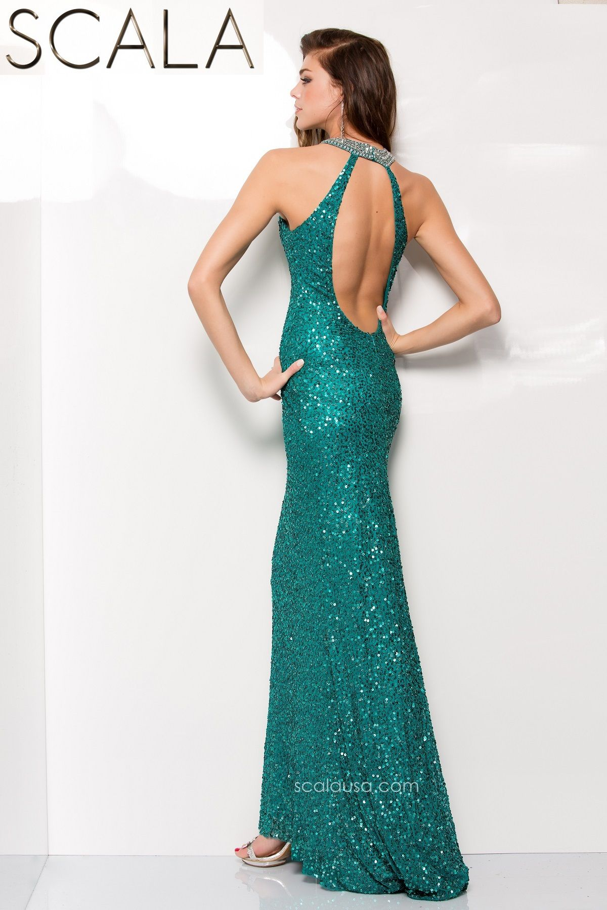 SCALA style 48444 Teal. #Prom2K15 #Spring2015 #Prom2015 #Dress #Gown ...
