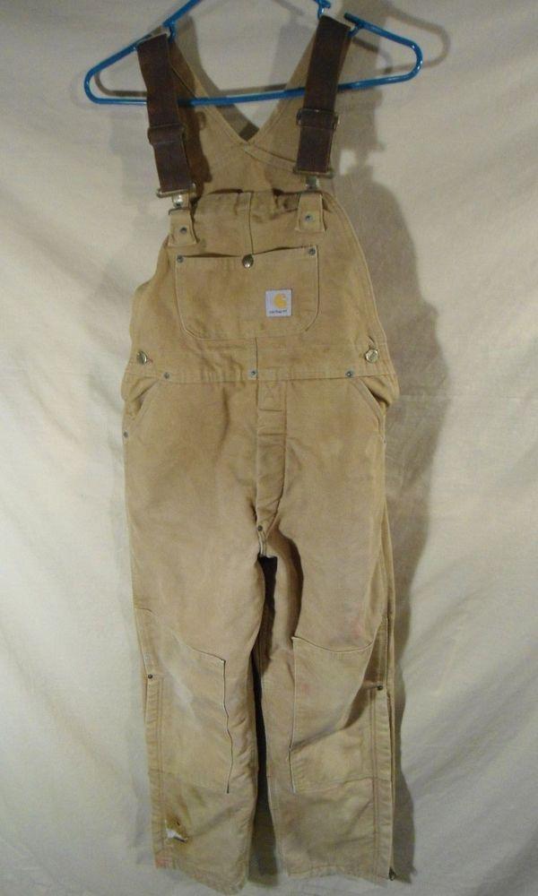vintage carhartt men s insulated work overalls bibs farmer on insulated work overalls id=23387