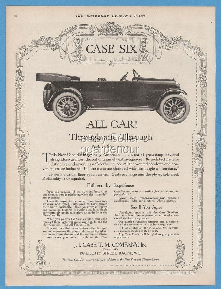 1918 J.I. Case T.M. Co Racine Wisconsin Case Six open motor car ...