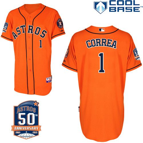 houston astros authentic carlos correa alternate jersey commemorative 50th anniversary patch mlb.