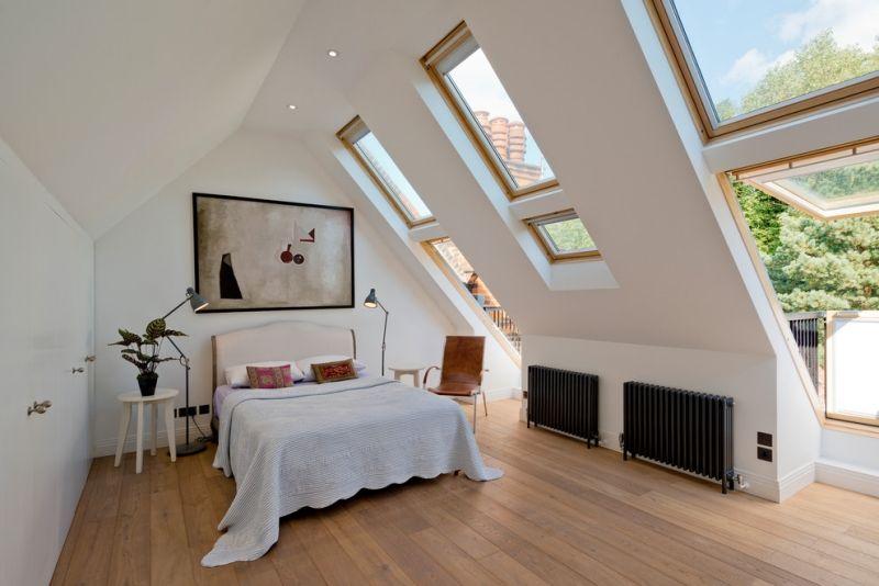 Schlafzimmer mit Dachschräge gestalten – 23 moderne Wohnideen ...