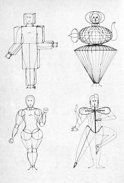 comparison of a bauhaus ballet costume from the triadisches