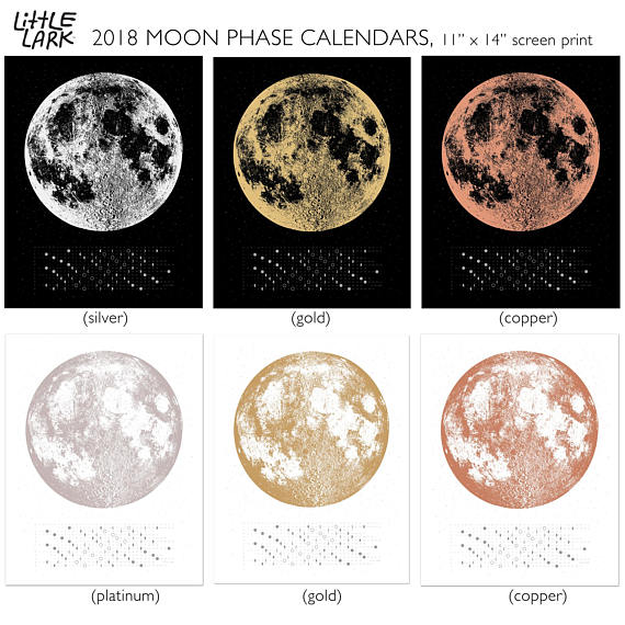 Get Your Order In Today For A New 2018 Moon Calendar We Will Have