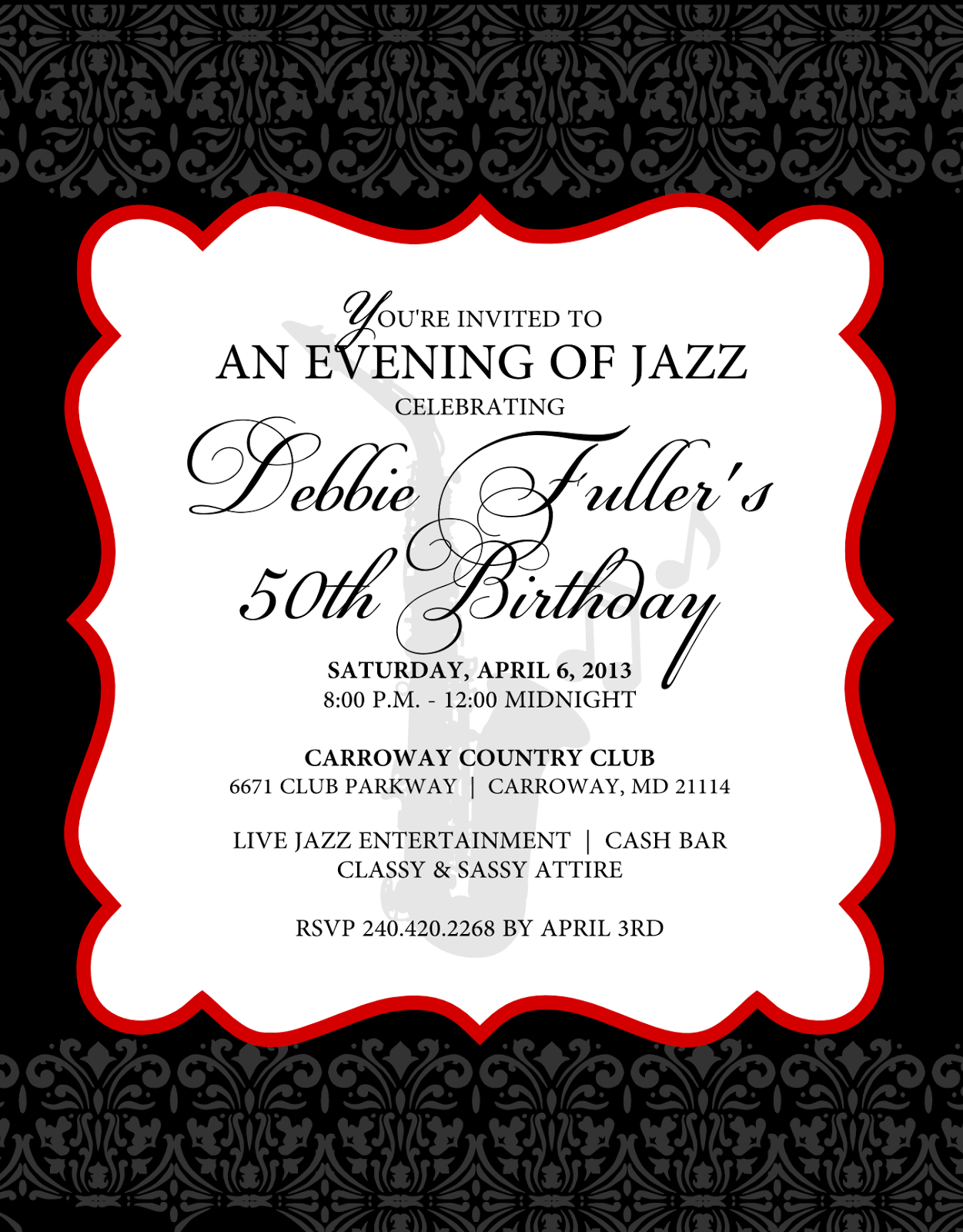 Jazz Party Ideas Signatures By Sarah Jazz Theme Birthday Party