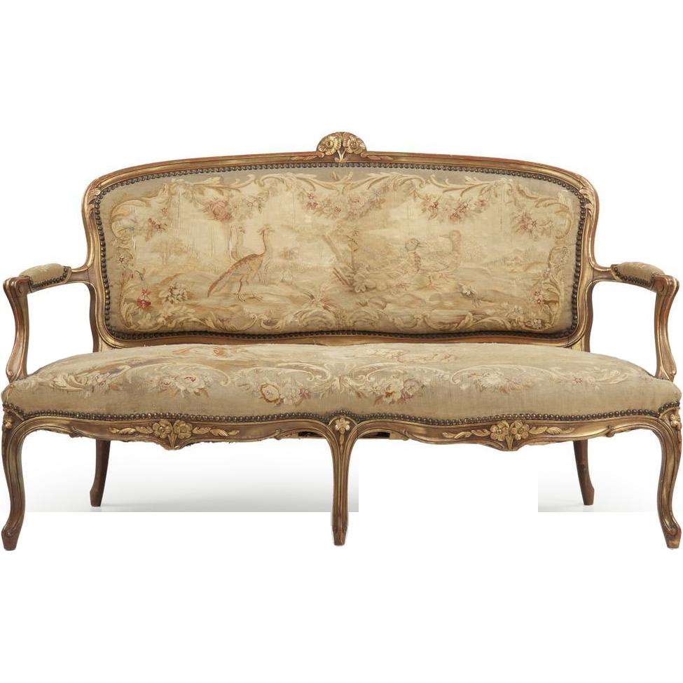 Rubylanecom French Louis Xv Sofa Settee Antique 19th Century Rubylane