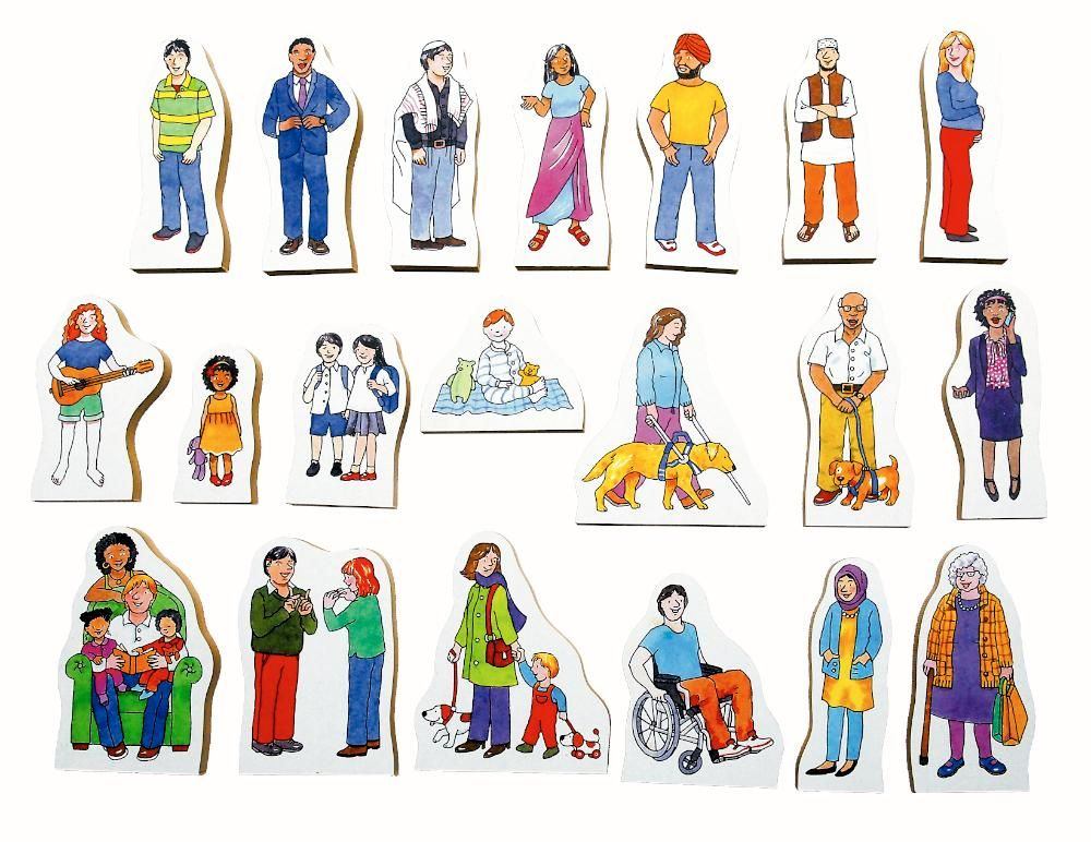 Diverse Community Puzzle (With images) Drawing people