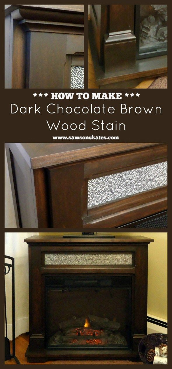 Diy Dark Chocolate Brown Wood Stain Best Of Skates