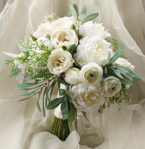 The Silk Option Silk Wedding Bouquet Boho Bouquet Bridal Bouquet Silk Artificial Bouquets Wedding Artificial Wedding Bouquets Bridal Bouquet