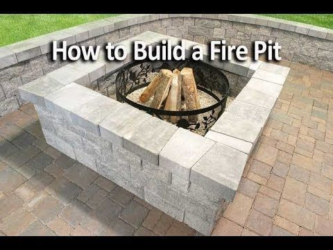 How to Build a Square Fire Pit | Home Design, Garden & Architecture Blog Magazine in 2019 | Fire ...