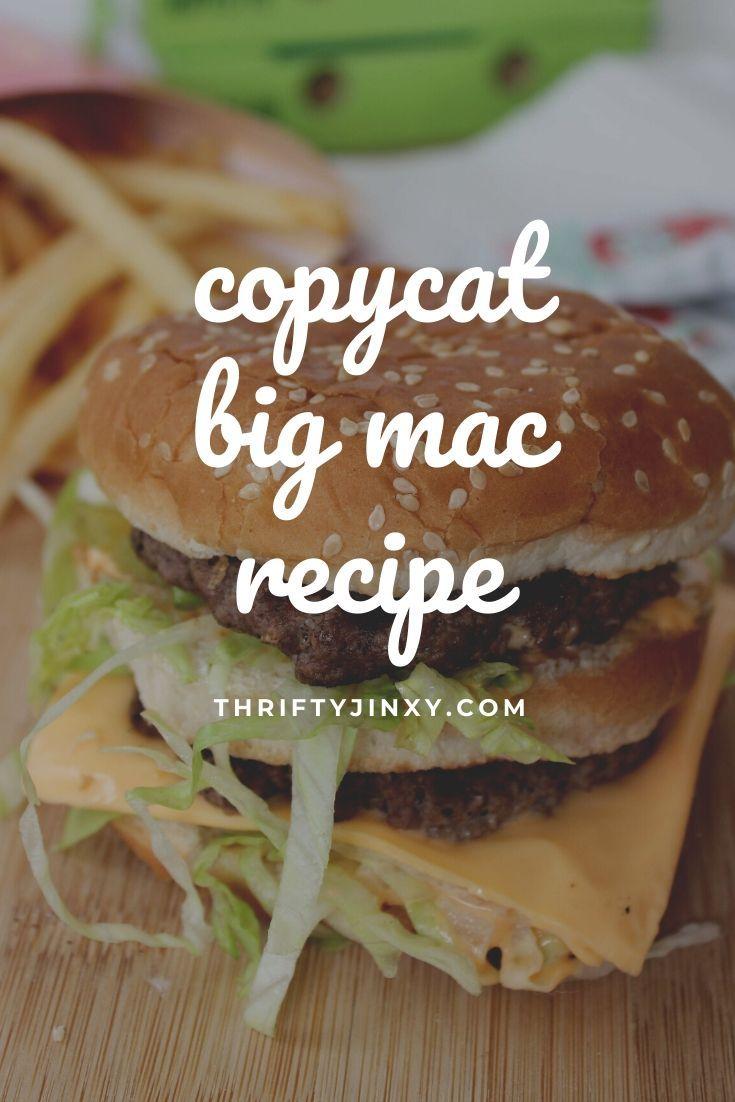 Better Than Drive Thru Big Mac Recipe