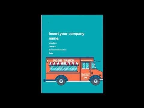 Food Truck Business Plan Editable Example  Black Box Business
